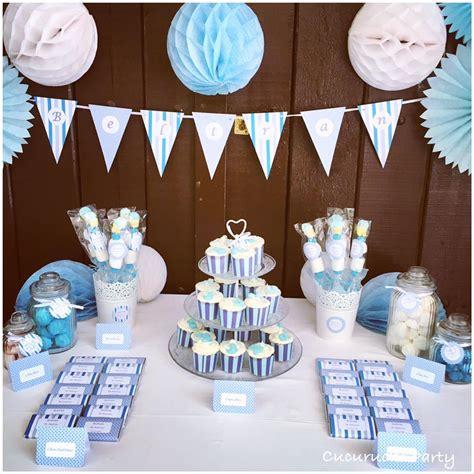 Mesa dulce Bautizo niño en azul y blanco | Mesas dulces ...
