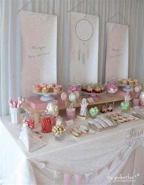 mesa dulce estética boho   mesa dulce comunión niña ...
