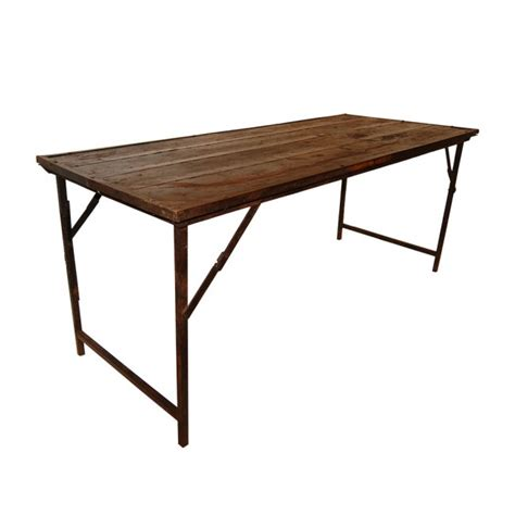 Mesa plegable madera antigua   Ambients