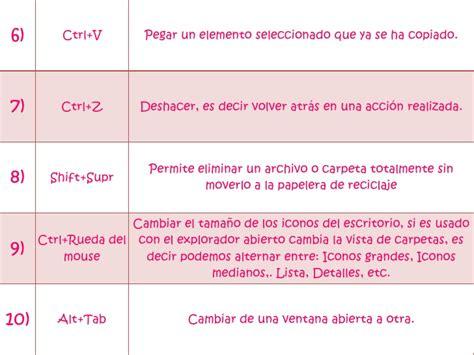 Metodos abreviados para el teclado en windows 7