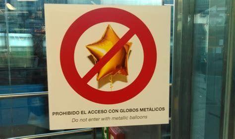 Metro de Madrid empieza a incautar globos metálicos