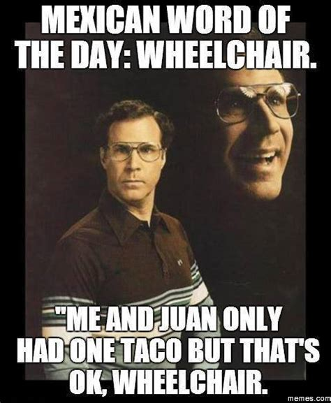 Mexican word of the day – Wheelchair   Meme Collection