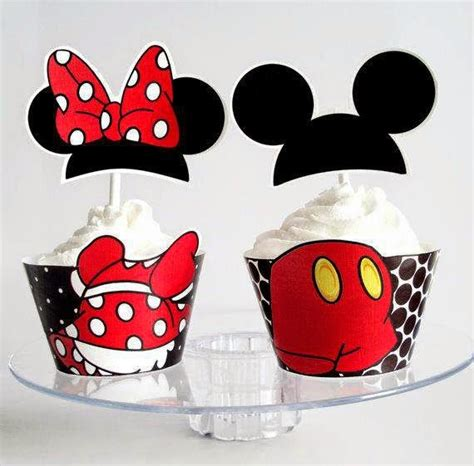 Mickey y Minnie: Preciosos Wrappers y Toppers para ...