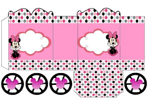 Minnie in Pink: Princess Carriage Shaped Free Printable ...