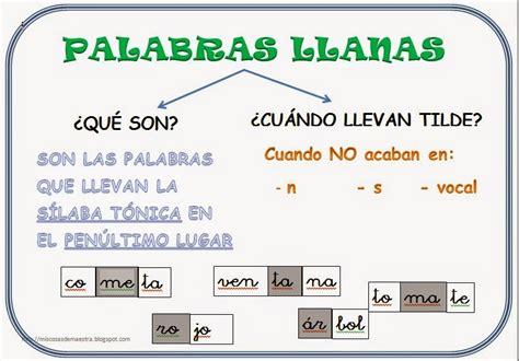*MIS COSAS DE MAESTRA*: PALABRAS LLANAS: ¿Qué son? y ...