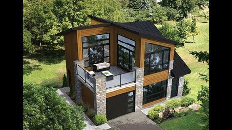 Modelo de casa con terraza al frente   Planos y fachadas ...
