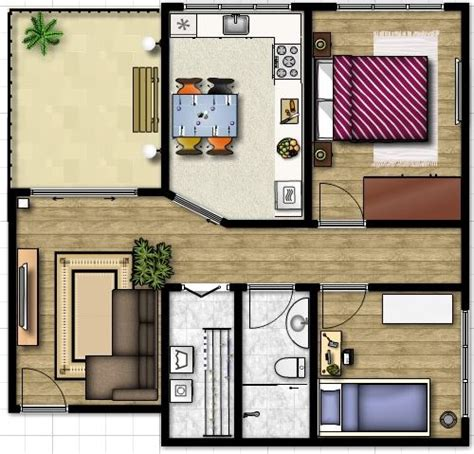 Modelos de casas con jardin interior