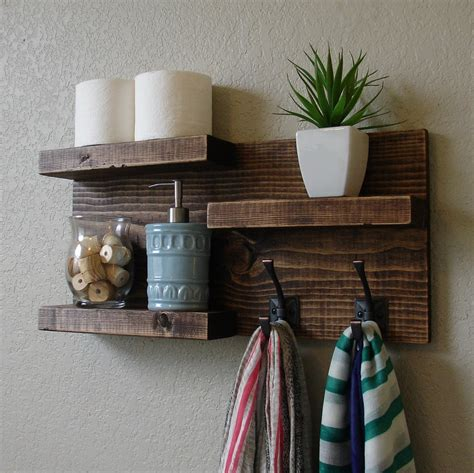 Modern Rustic 3 Tier Bathroom Shelf