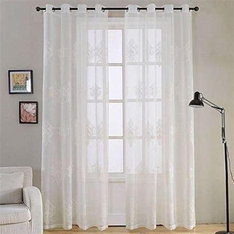 Modernas cortinas salón blancas con bordados | Cortinas de ...