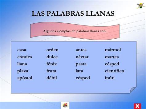 MODULO ACENTUACION DE PALABRAS LLANAS   ppt video online ...