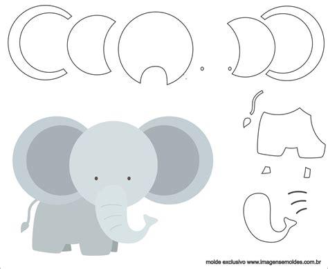 Molde de Elefante para Feltro   EVA e Artesanato 5