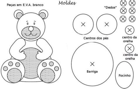 Molde de Urso em Feltro: 19 Moldelos de Ursinhos ...