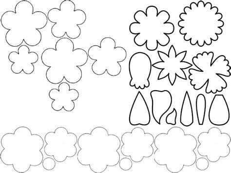 Moldes de flores en goma eva para imprimir
