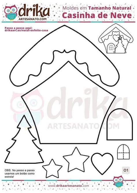 Moldes para hacer casas de Jengibre en fieltro Ideas de ...