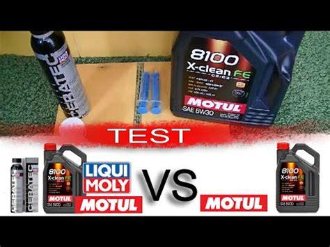 Motul 8100 X Clean Fe 5W30 + liqui moly ceratec vs Motul ...
