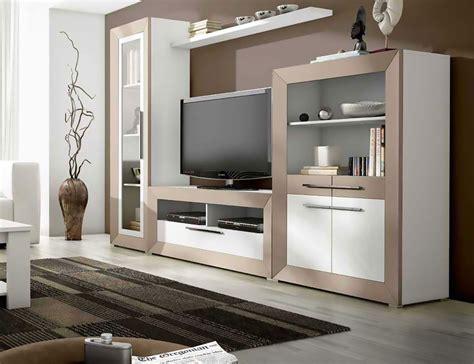 Mueble de salón moderno en blanco con visón  2400 ...
