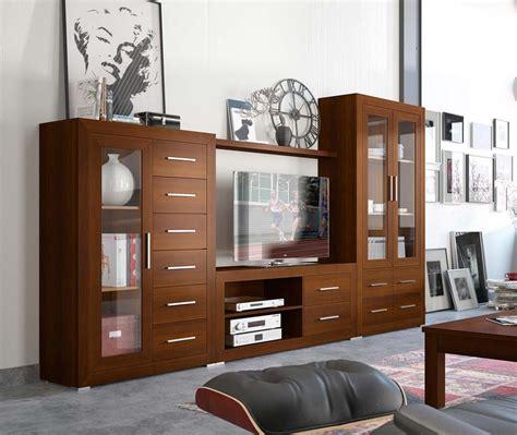 Mueble de salón moderno Nuez de Ámbar Muebles.
