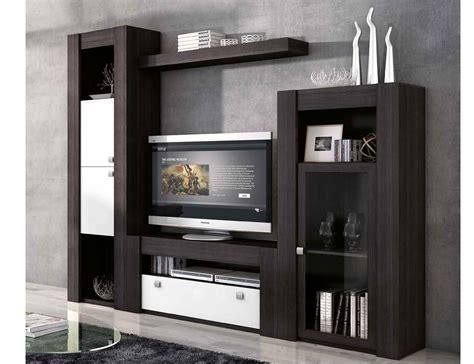 Mueble de salón modular moderno en ceniza blanco  2277 ...
