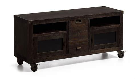 Mueble tv con ruedas vintage Industrial en ...