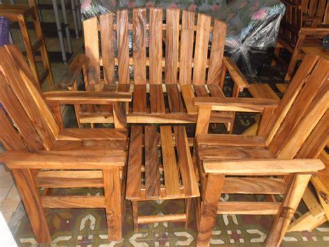 Muebles De Madera Rústicos Porche 4 Piezas   Bs. 160.000 ...