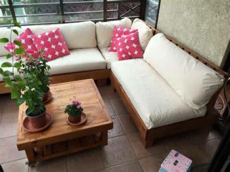 Muebles De Terraza Departamento Hechos De Pallets Palet ...