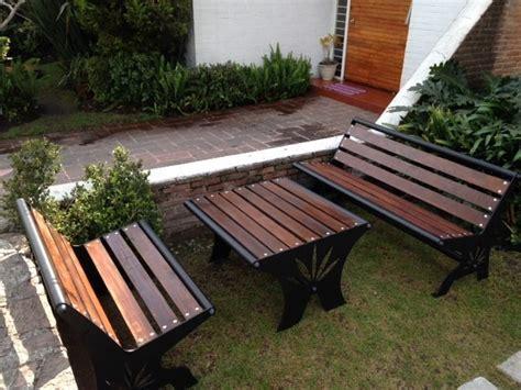 Muebles Para Jardin. Bancas Y Mesa. Originales   $ 14,000 ...