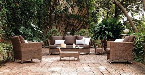 Muebles Terraza Rattan. Set De Exterior Mesa Sillones ...