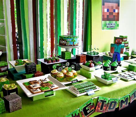 MuyAmeno.com: Fiestas Infantiles Decoradas con Minecraft 2