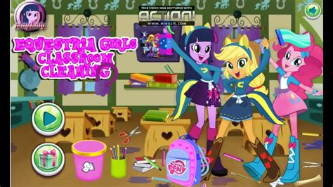 My Little Pony Games   Equestria Girls Classroom Cleaning ...