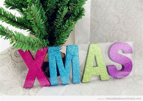 Navidad | Manualidades con Foamy | Manualidades de goma eva