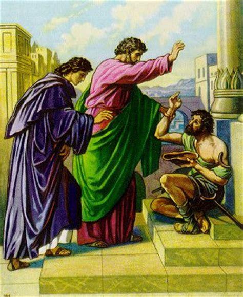 Nazareno: Pedro sana a un mendigo lisiado  3:01 09    NVI