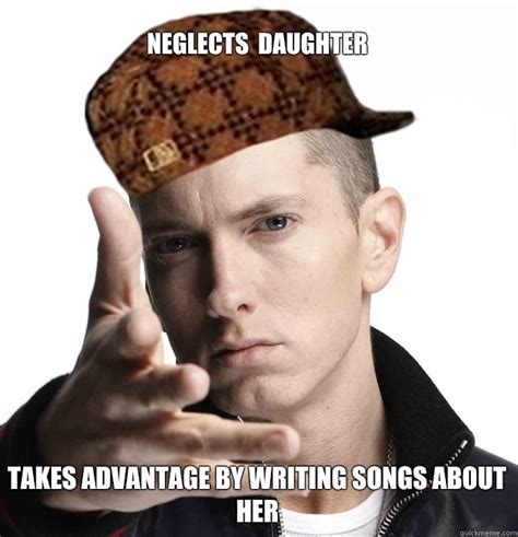 Neglects daughter Takes advantage by writing songs about ...