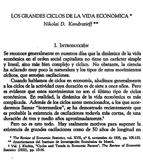 NIKOLAI D. KONDRATIEFF LOS GRANDES CICLOS DE LA VIDA ECONÓMICA