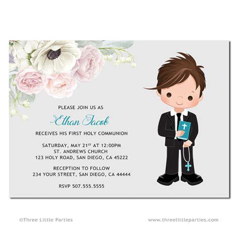 Niño primera comunión invitación imprimible, Invitación ...