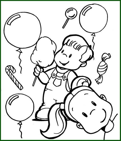 Niños para Colorear Infantil Jugando con Globos   Dibujos ...