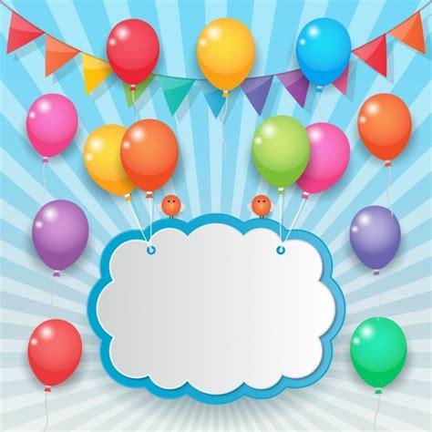 Nube sujetada con globos de colores | Descargar Vectores ...