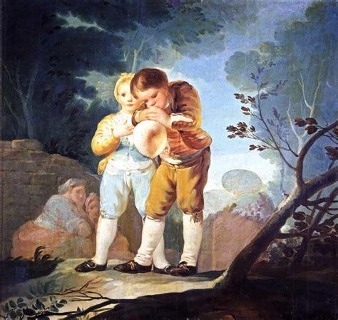 Obra de Arte   Niños inflando una vejiga   Francisco de ...