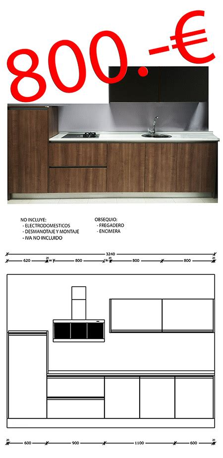 Ofertas en muebles de cocina por liquidacion en Mostoles.