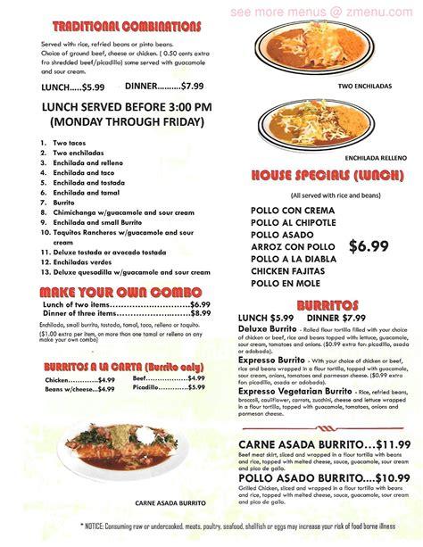 Online Menu of La Terraza Restaurant, Marysville ...