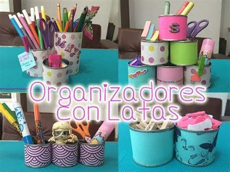 Organizador con Latas | Manualidades con reciclaje para ...