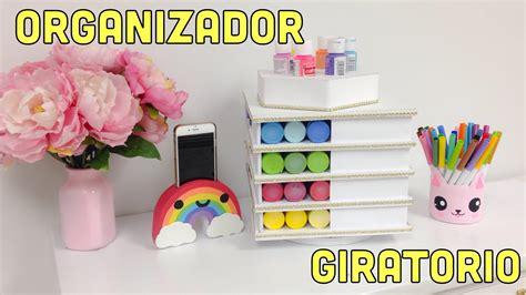 ORGANIZADOR DE CARTÓN GIRATORIO manualidades con reciclaje ...