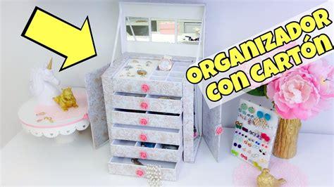 Organizador de cartón/manualidades con reciclaje ...