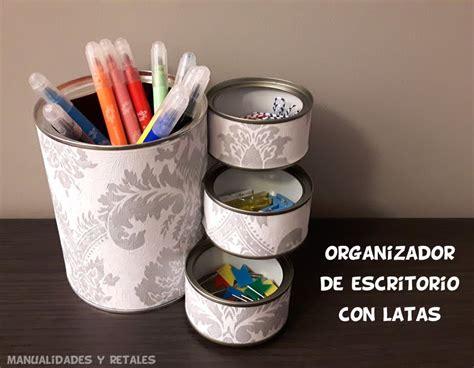 Organizador de escritorio con latas   YouTube