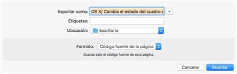 OS X: Cambia el estado del cuadro de diálogo Guardar con ...