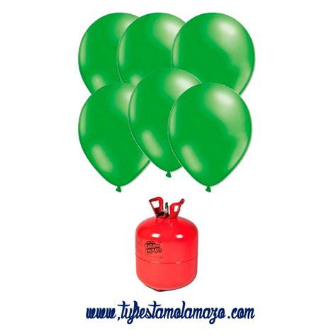 Pack Bombona de helio Maxi más 50 globos verdes   Tu ...