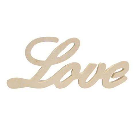 Palabra LOVE de madera   Cromatismes   Tienda online de ...