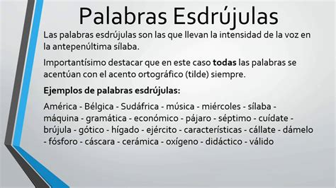 PALABRAS AGUDAS GRAVES Y ESDRÚJULAS   YouTube