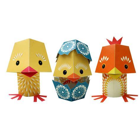 Paper toys  Yolk Folk   set de bricolage   3 animaux    SeBio