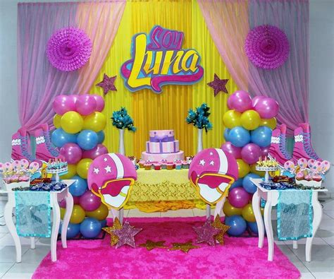 Pared soy luna con tul | decoración de globos | Pinterest ...