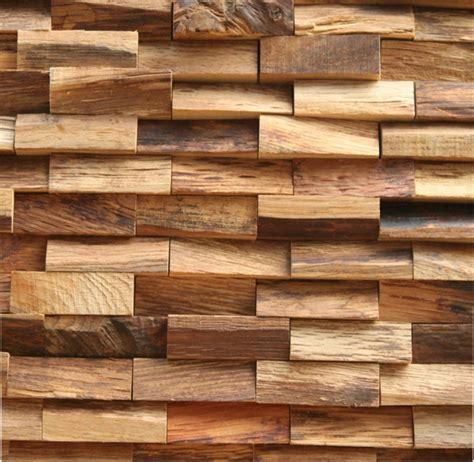 Paredes de madera con relieves y acentos en 3D